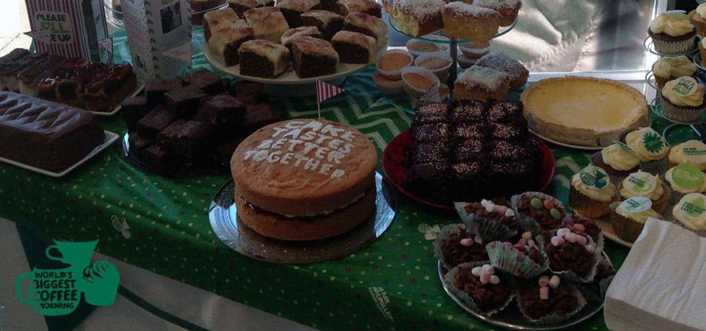Macmillan Cake Table Close Up at Cutting Club