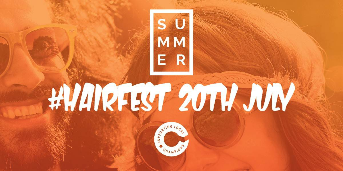 Hairfest banner - 20th July