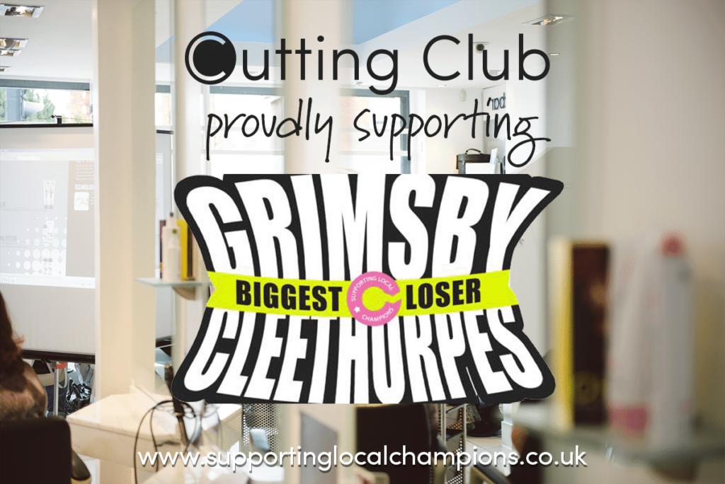 Biggest Loser Logo on Cutting Club salon background