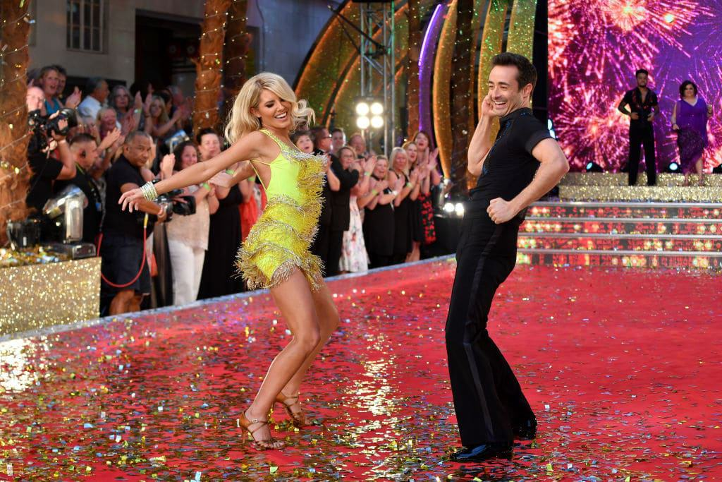 Mollie King and Joe McFadden at Strictly Come Dancing