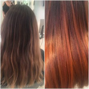 Stunning colour refresh on brown hair with subtle, natural highlights