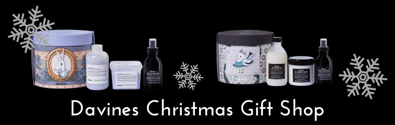 Davines Christmas Gift Shop Banner