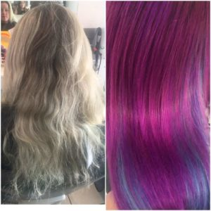 mermaid hair before and after photo